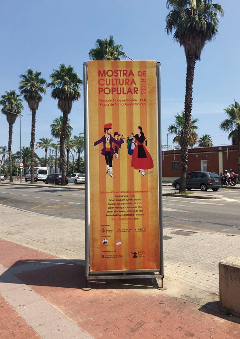 lona cartel mostra cultura maresme 2018